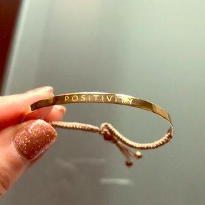 "BNWT Sterling Silver ""Positivity"" Bracelet"